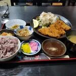 ニカク食堂 - 牛カツ定食