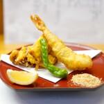 お料理 琢磨 - 海老の天ぷら