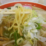 13315628 - 塩ラーメン 西山製麺の麺