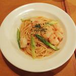 スパゲッティ食堂ドナ - エビとアスパラ