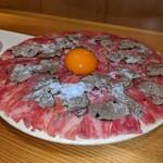 133163907 - 肉刺し トリュフプラチナユッケ