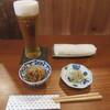 蕎麦 ひるあんどん - 料理写真:生ビール・お通し2品