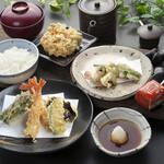 天ぷら つな八 - 季節ランチ はもと夏野菜定食