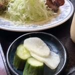 カフェ レストラン 梅昇 - 漬物