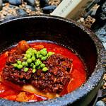 石焼ぐつぐつ 生山椒と叩いた肉の無骨な麻婆豆富