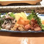 魚がし鮨 - 貝刺し盛