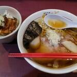 麺藤田 - 料理写真:トリトン味玉+ミニ炙り豚丼