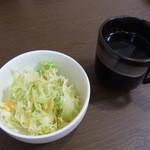 海坊厨 - ランチのサラダとスープ