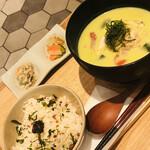 おだし東京 - 豚肉と枝豆の冷製すり流し