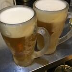 鉄板ダイニングEBISU - キンキンに冷えたエビスの生ビール