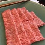 萬寿野 - しゃぶしゃぶコースの牛肉