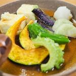 まーぐんレストラン - 料理写真:島豆腐と島野菜の揚げ出し