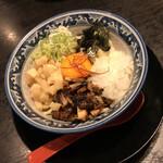 Ramenshokudourairakukenkyoudaiten - ニボ塩まぜそば 870円