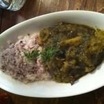 ロス・バルバドス - 11回目2012年6月8日カリブ海料理 カラルーとキャッサバのランダン 英系カリブで食べられるココナッツミルクを使う煮込み