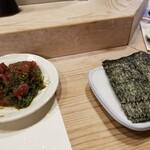 金井寿司 - 漬けまぐろ海苔巻き。