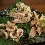日本再生酒場 - もつ刺し三種盛り