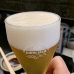 活 大江戸 - 乾杯グラスビール