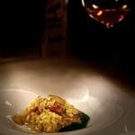 133244602 - オーボリーのリゾットとキャビアは、赤ワインにぴったり。♫