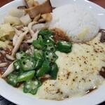 生活茶屋 - 野菜たっぷりカレー+チーズトッピング