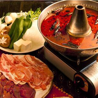 カラダが芯からあたたまる◆獣鍋◆ジビエ薬膳火鍋◆