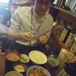 居酒屋 赤頭巾 - M山氏は日替わり定食のすき焼をチョイス!