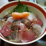 磯らぎ - 磯らぎ海鮮丼と選べる二色丼セット 博多アップ