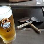 道とん堀 - 生ビール大‼️(キリン一番搾り)