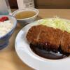 あたりや - 料理写真:ロースかつライス(上)(1200円税込)