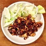 133261378 - ホルモン焼き(豚味噌)は濃厚な味噌が、なかなか秀逸ですね。♫、