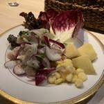 シュリンプバンク - セビーチェ 酸味と魚介がよくあってパクチーの風味がまたいい!!白ワイン飲みたくなります