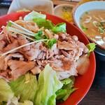 つるりんこう - 日替わり定食 豚丼