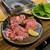 地雷也 - 料理写真:三梨牛おすすめ3品カルビとロース旨かった、ハラミも・・・全部だろっ!(笑)