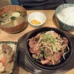 kawara CAFE&DINING - 牛カルビ定食