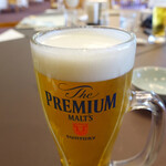 タートルエースゴルフ倶楽部 クラブハウスレストラン - ドリンク写真:先ずは生ビール