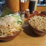 麺場 七人の侍 - 豚サブつけ大盛り(1000円)