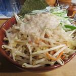 麺場 七人の侍 - 野菜増し、脂増しのつけ汁