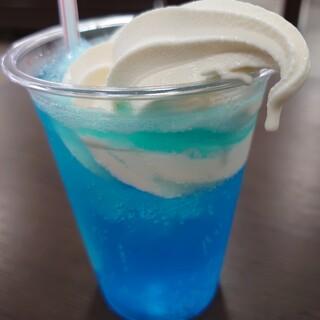 桜島サービスエリア上り線レストラン - ドリンク写真:すぐ溶ける?(笑)
