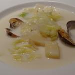 13329158 - あさりと有機野菜のクリームスープ