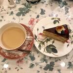オールド・ローズ・ガーデン - ケーキセット キャラメル・リー・ジェンシー&キャラメルチョコバナナ