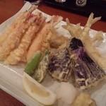 魚金 - 2012.5 海の幸の天プラ盛り(748円)