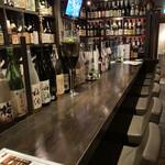 横浜風しゃぶしゃぶ鍋と焼酎・地酒居酒屋 甕仙人 関内蔵 - カウンター