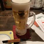 横浜風しゃぶしゃぶ鍋と焼酎・地酒居酒屋 甕仙人 関内蔵 - 生ビール