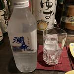 横浜風しゃぶしゃぶ鍋と焼酎・地酒居酒屋 甕仙人 関内蔵 - 温泉水