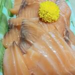 スーパーマーケット三徳 - 料理写真:解凍アトランティックサーモン398円が30%引