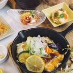 真鯛とごろっと野菜のレモンガーリック醤油