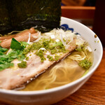 麺屋ひょっとこ - 和風柚子柳麺@760円+海苔@120円