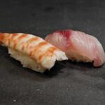寿司 さいしょ - クルマエビ、イサキ