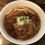 十人十色 - 限定・豚清湯焦がしネギ醤油ラーメン(悪魔肉)(800円)