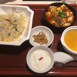 中国大明火鍋城 - 麻婆&炒飯セット