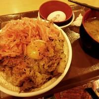 すき家-牛丼・とん汁 大盛モーニング¥600